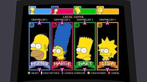 Игра аркада про Симпсонов, прохождение