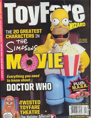 Симпсоны на обложке журнала ToyFare